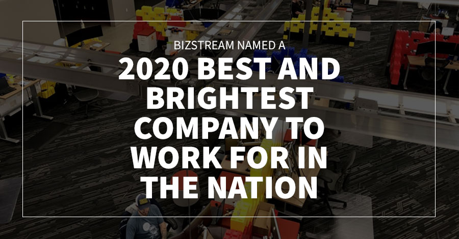 BizStream Named a 2020 Best and Brightest Company to Work For in the Nation