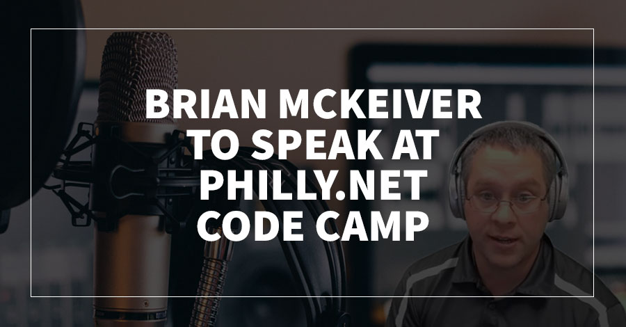 Brian McKeiver to Speak at philly.NET Code Camp