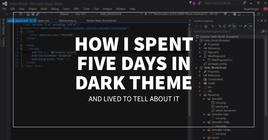 How I Spent 5 Days In Dark Theme, And Lived To Tell About It
