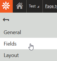 Explanation of where Fields option is on left sidebar