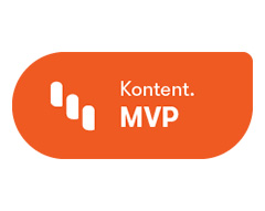 Kentico Kontent MVP badge