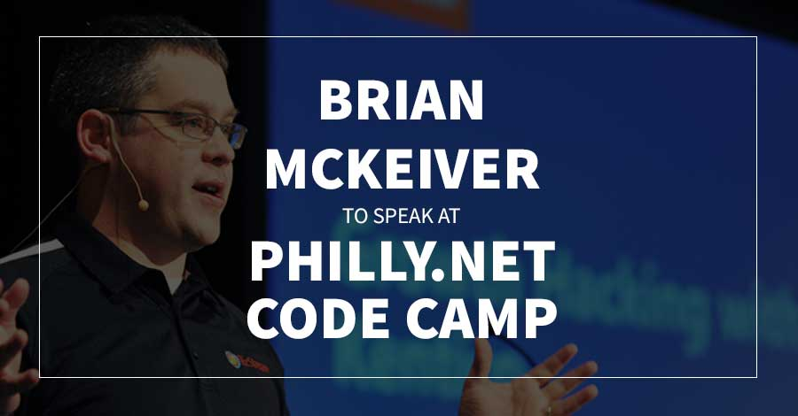 Brian Mckeiver To Speak At Philly.Net Code Camp 2019