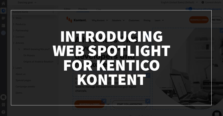 Introducing Web Spotlight for Kentico Kontent
