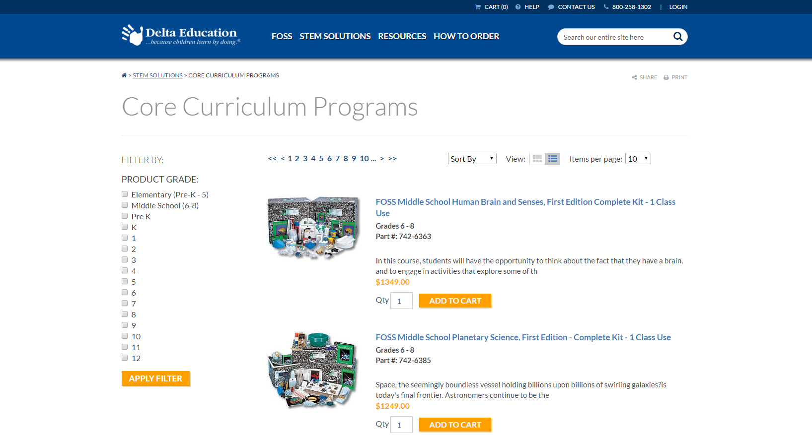 Core Curriculum Programs