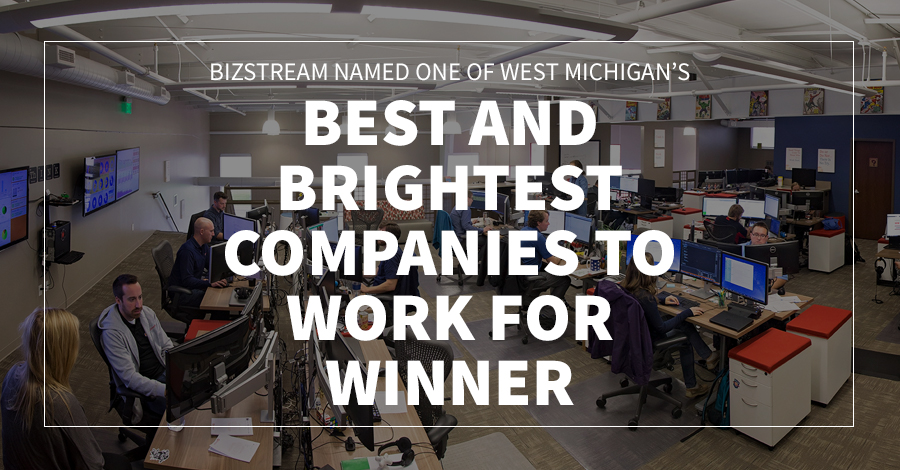 BizStream Named One of West Michigan's Best and Brightest Companies to Work For Winner