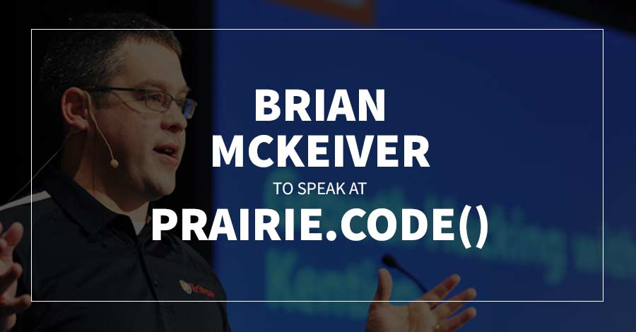 Brian McKeiver to Speak At Prairie.Code()