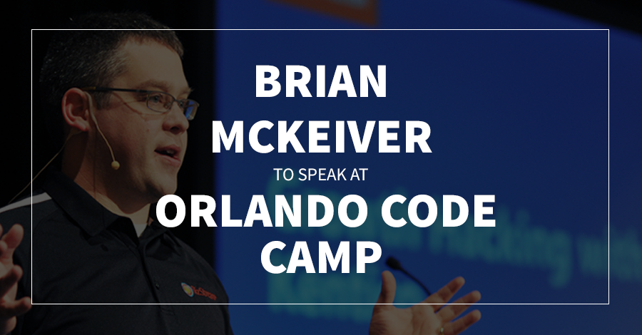 Brian McKeiver to Speak at Orlando Code Camp